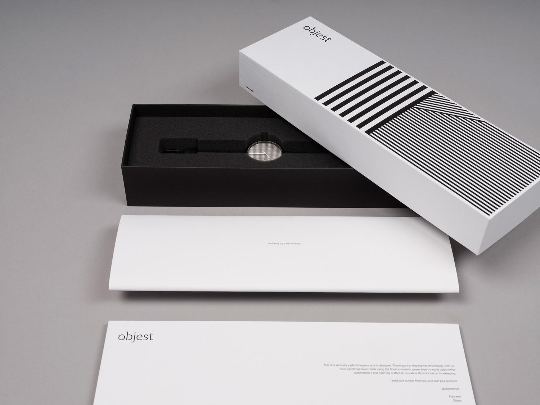 Progress Packaging Luxury Creative Bespoke Objest Watch Foad Insert Box Lid And Base