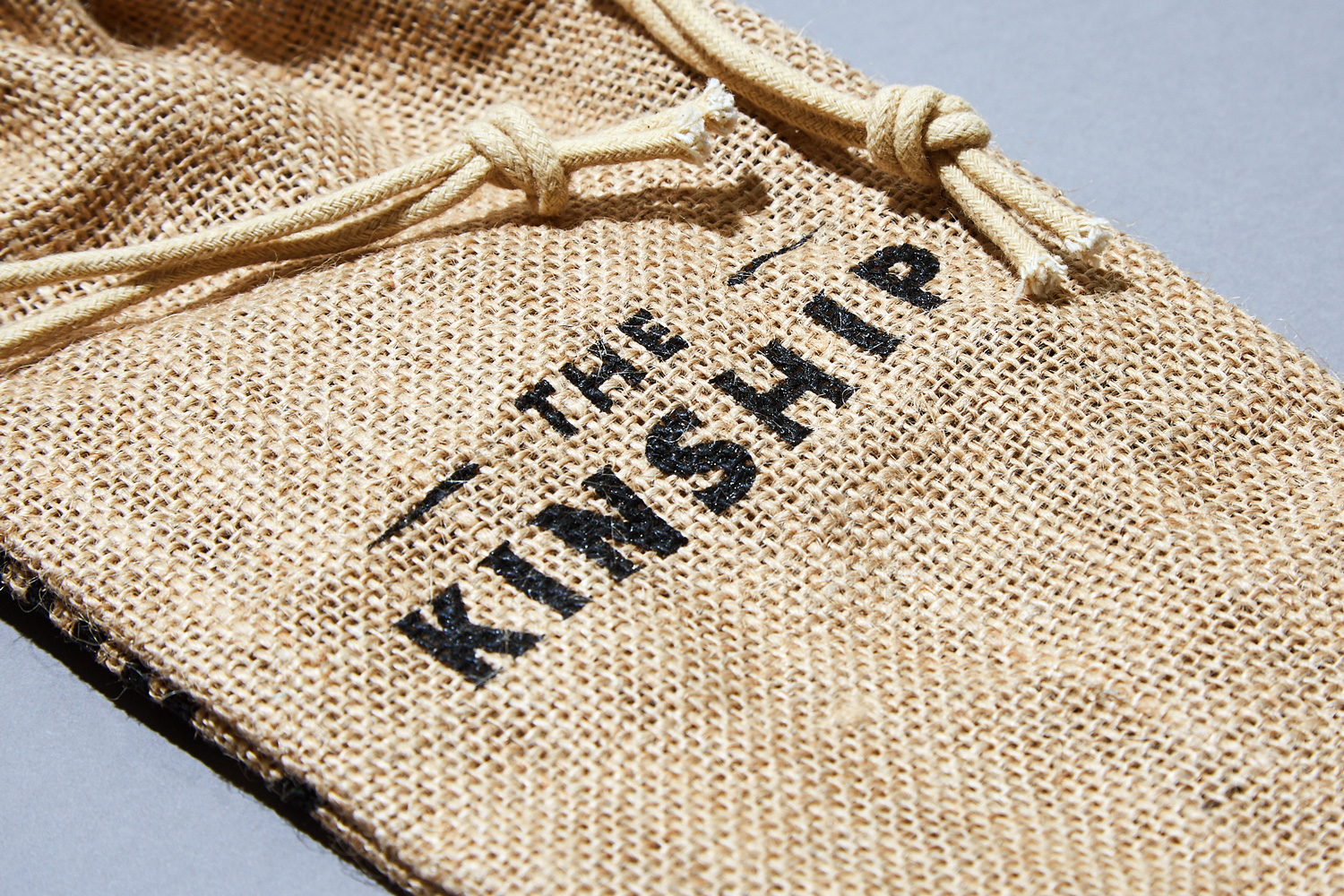 Progress Packaging Branded Hessian Drawstring Bag Printed Whisky Whiskey Spirits Alcohol Bottle Bag Kinship Hunter Laing