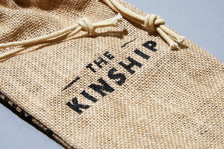 Progress Packaging Branded Hessian Drawstring Bag Printed Whisky Whiskey Spirits Alcohol Bottle Bag Kinship Hunter Laing
