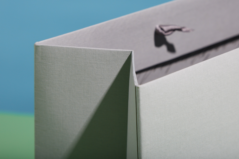 Progress Packaging Entourage Bespoke Paper Retail Large Custom Colorplan Silkweave Emboss Ribbon Handle Carrier Bag