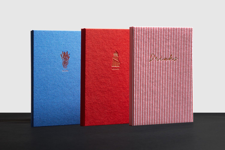 Progress Packaging The Artist Residence Custom Boutique Restaurant Digital Printing Foiled Personalised Menu Covers Set