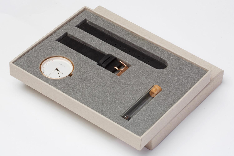 Progress Packaging Ormous Watch Box Foam Insert Recycled Minimal Kraft Eco Luxury Creative Design