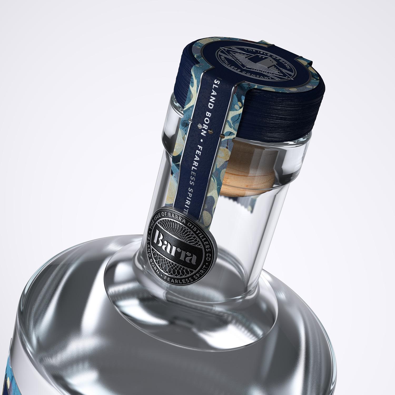Progress Packaging Barra Gin Lovers Bespoke Spirit Liquor Drinks Brand Creative High Street Tube Premium Luxury Printed Foiled Embossed