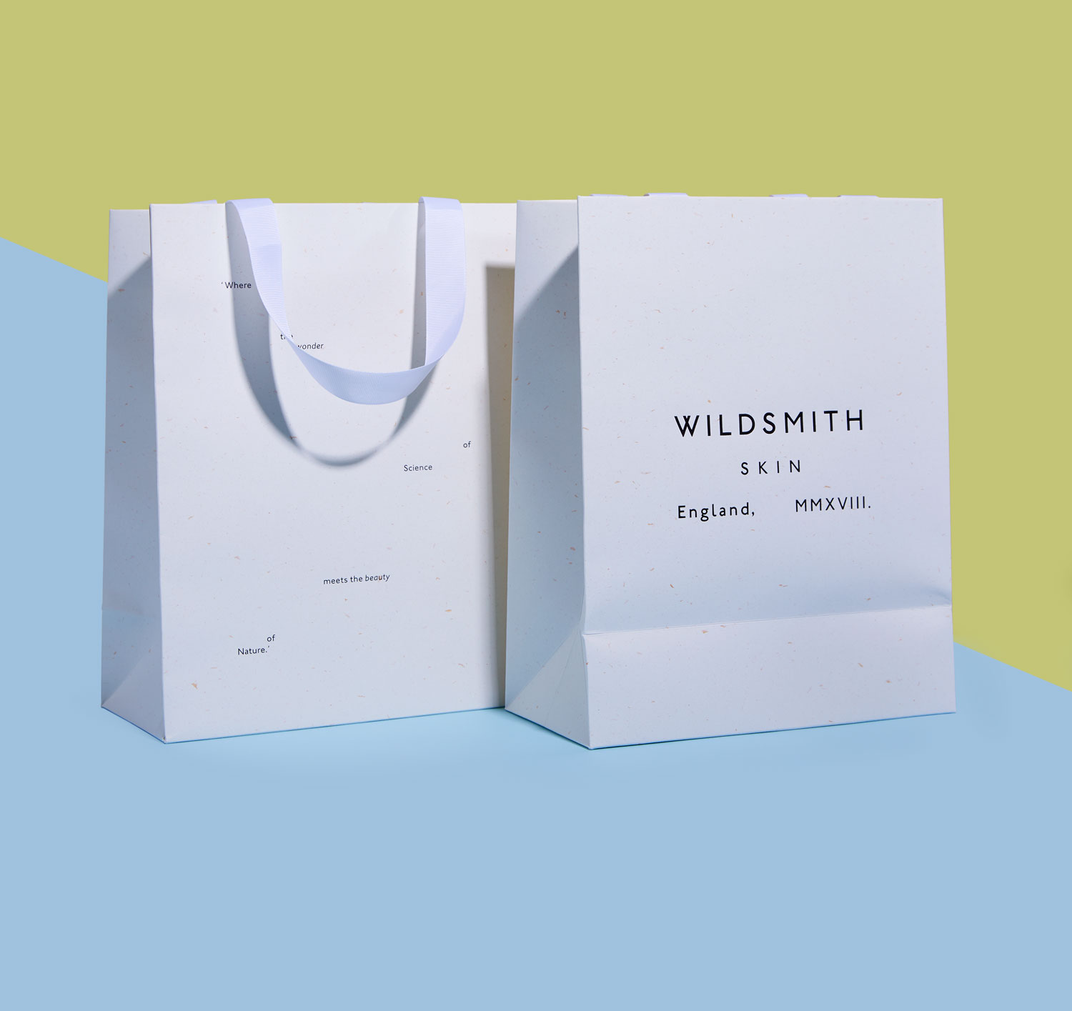 Progress Packaging Made Thought Skincare Recycled Papers Bags Environmentally Friendy Eco Accessories Custom Luxury Minimal Wildsmith Retail