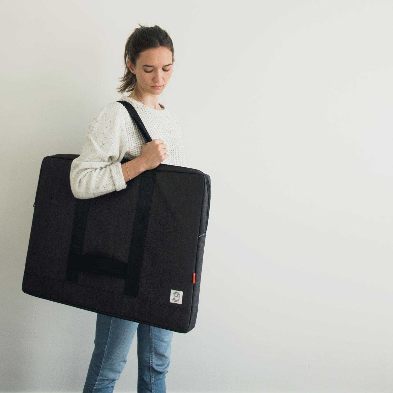 Progress Packaging Custom Made Portfolio Bag Art Carrier Designer Case Graphic Design Luggage Carrier Presentation Brief Case Large Format Manufacture 2