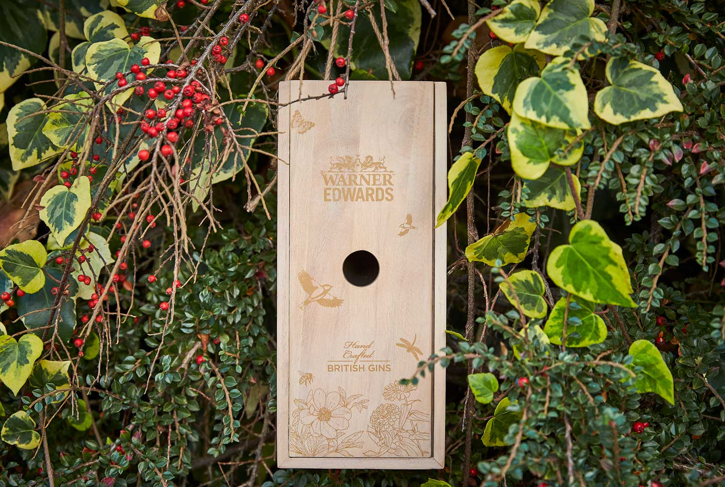 Progress Packaging Wooden Bird Box Insect Hotel Drinks Gin Spirits Liquor Fsc Approved Recycled Biodegradable Reusable Upcycling Responsibly Sourced Eco Friendly Environmentally Friendly 1