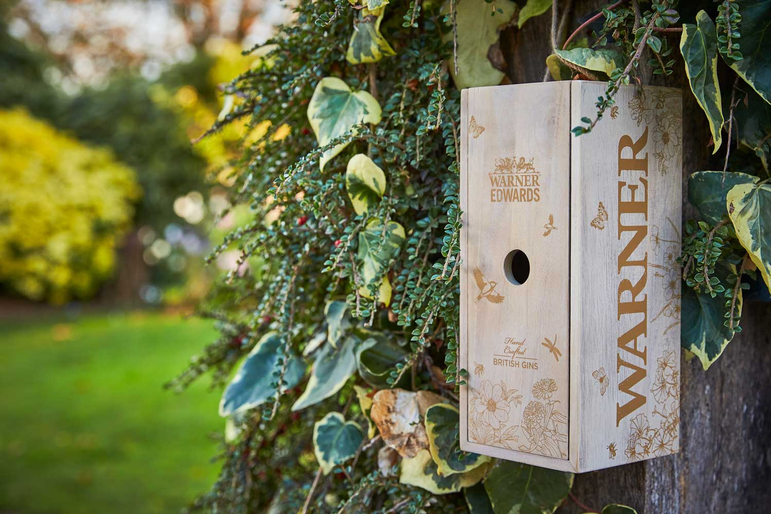 Progress Packaging Wooden Bird Box Insect Hotel Drinks Gin Spirits Liquor Fsc Approved Recycled Biodegradable Reusable Upcycling Responsibly Sourced Eco Friendly Environmentally Friendly 5