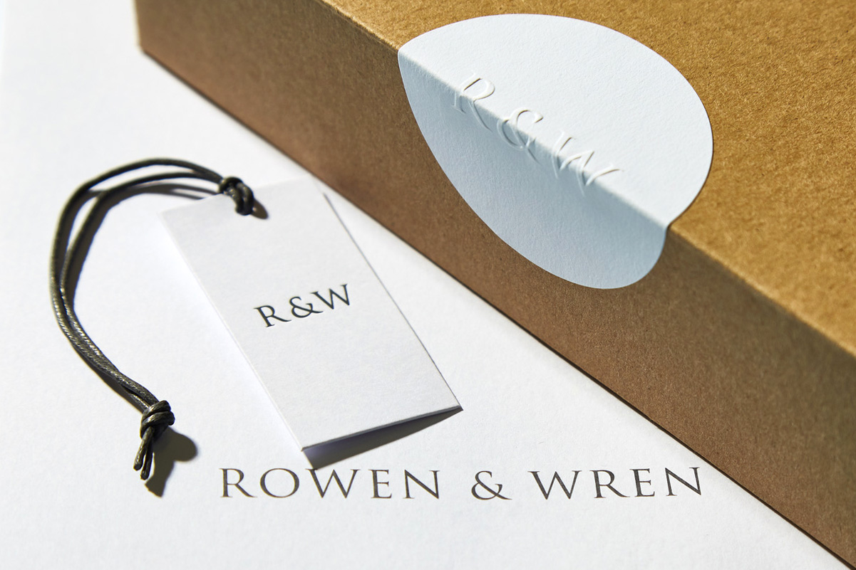 Progress Packaging Bespoke Accesories Custome Made Swing Tickets Invoice Envelopes Stickers Tags Eco Friendly Waxed String Minimalistic