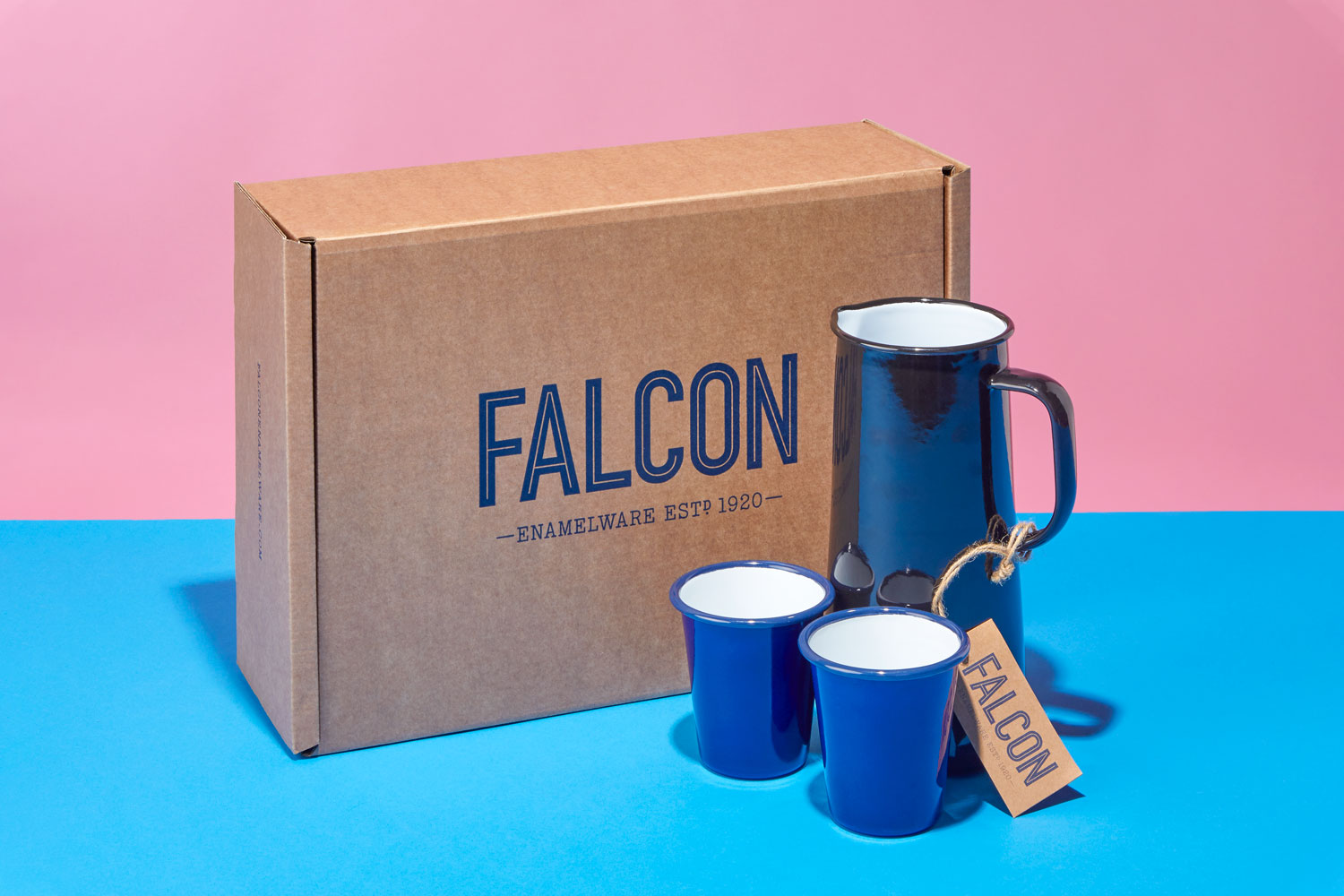 Progress Packaging Falcon Enamelware Bespoke Corrugate Kraft Ecommerce Box Manufacture Production Print 01