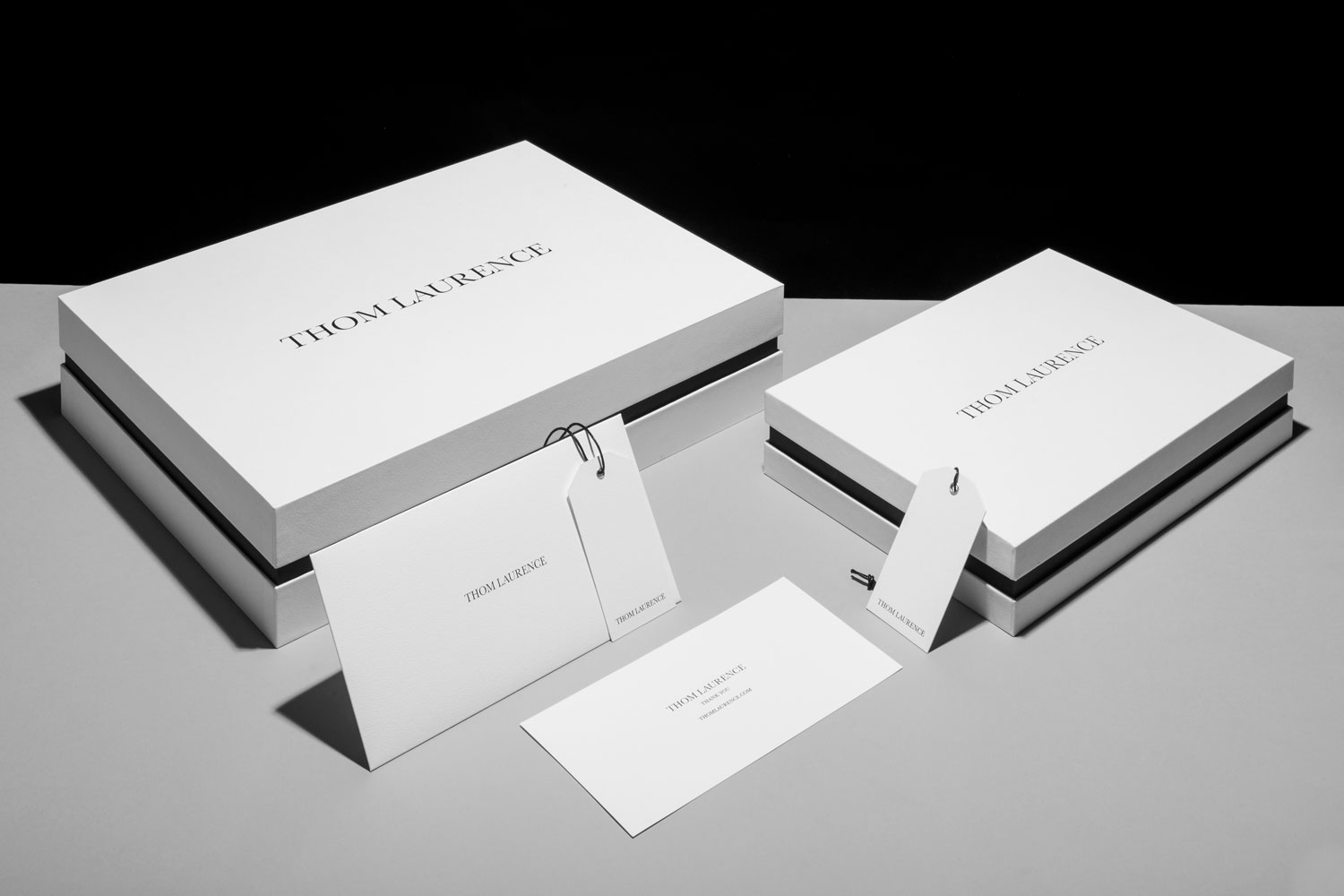 Progress Packaging Thom Laurence Bespoke Luxury Colorplan Embossed Blackfoil Box Manufacture Production Print 01