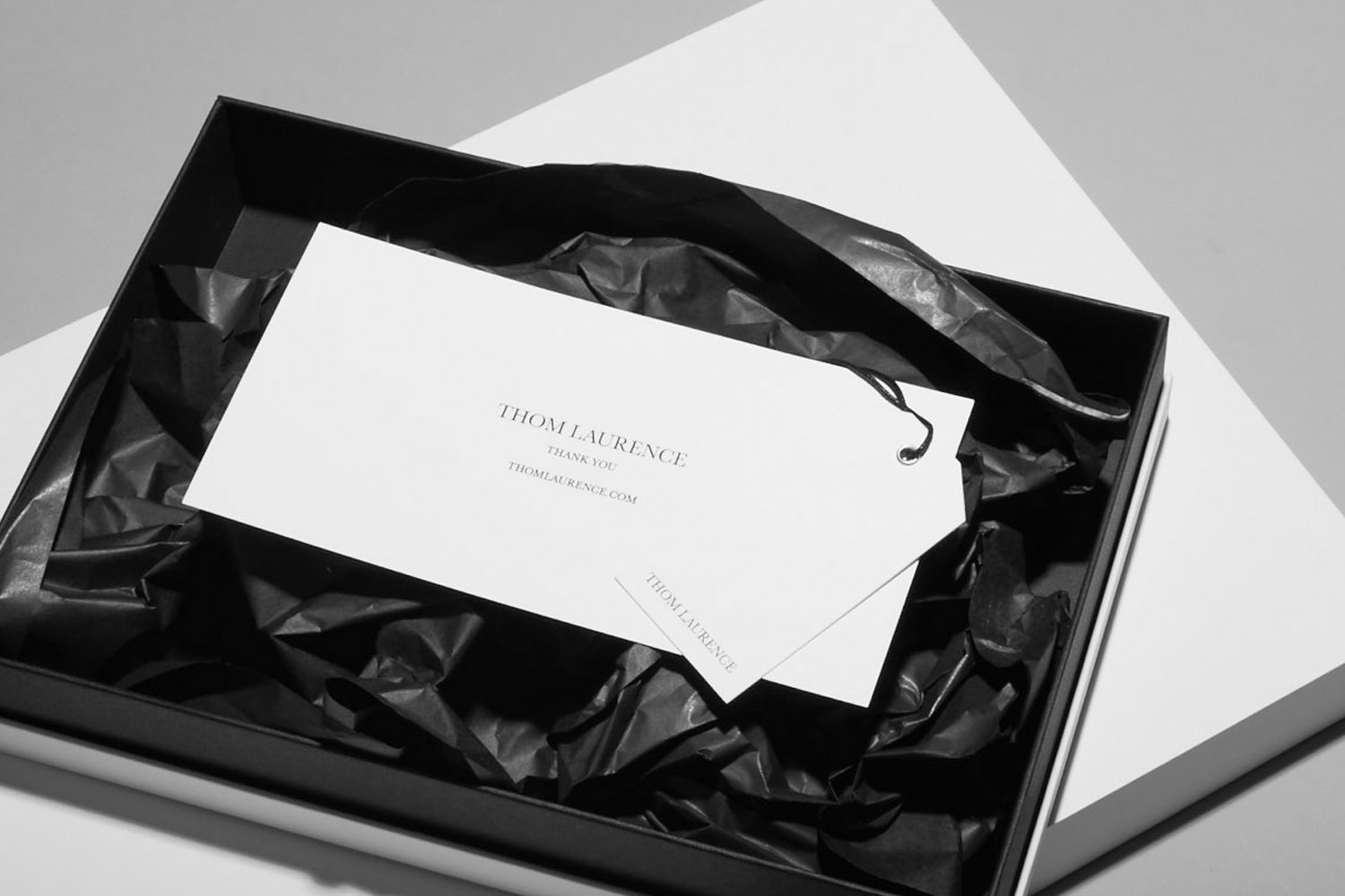 Progress Packaging Thom Laurence Bespoke Luxury Colorplan Embossed Blackfoil Box Manufacture Production Print Tissue 05