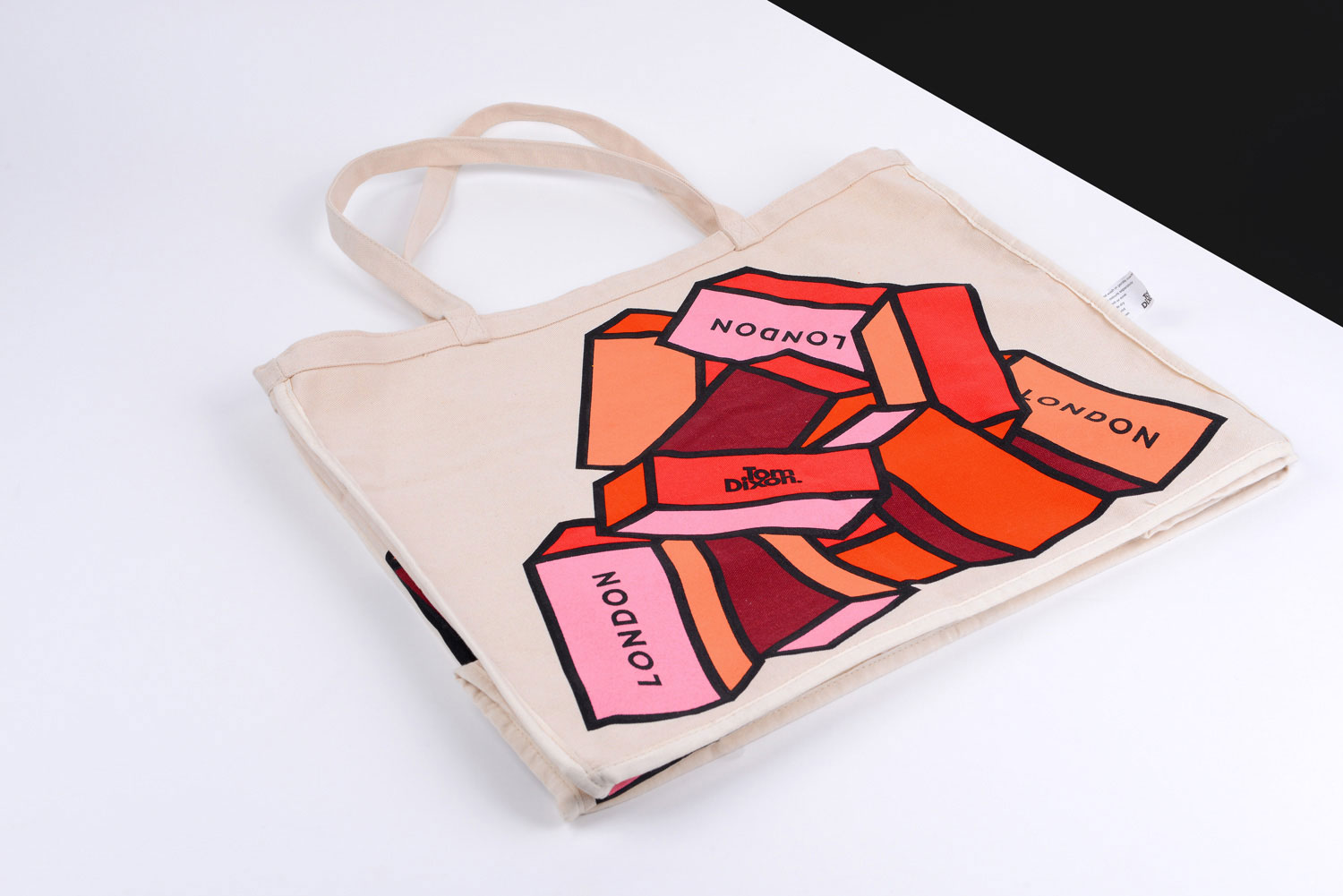 Progress Packaging Tom Dixon Environmentally Friendly Luxury Bespoke Retail 16oz Natural Canvas Tote Bag Screen Printed