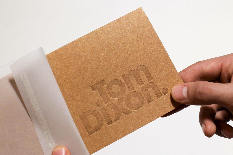 Progress Packaging Tom Dixon Environmentally Friendly Luxury Bespoke Retail Pcw Recyclable Kraft Envelope Accessories Mailer Blind Emboss 02