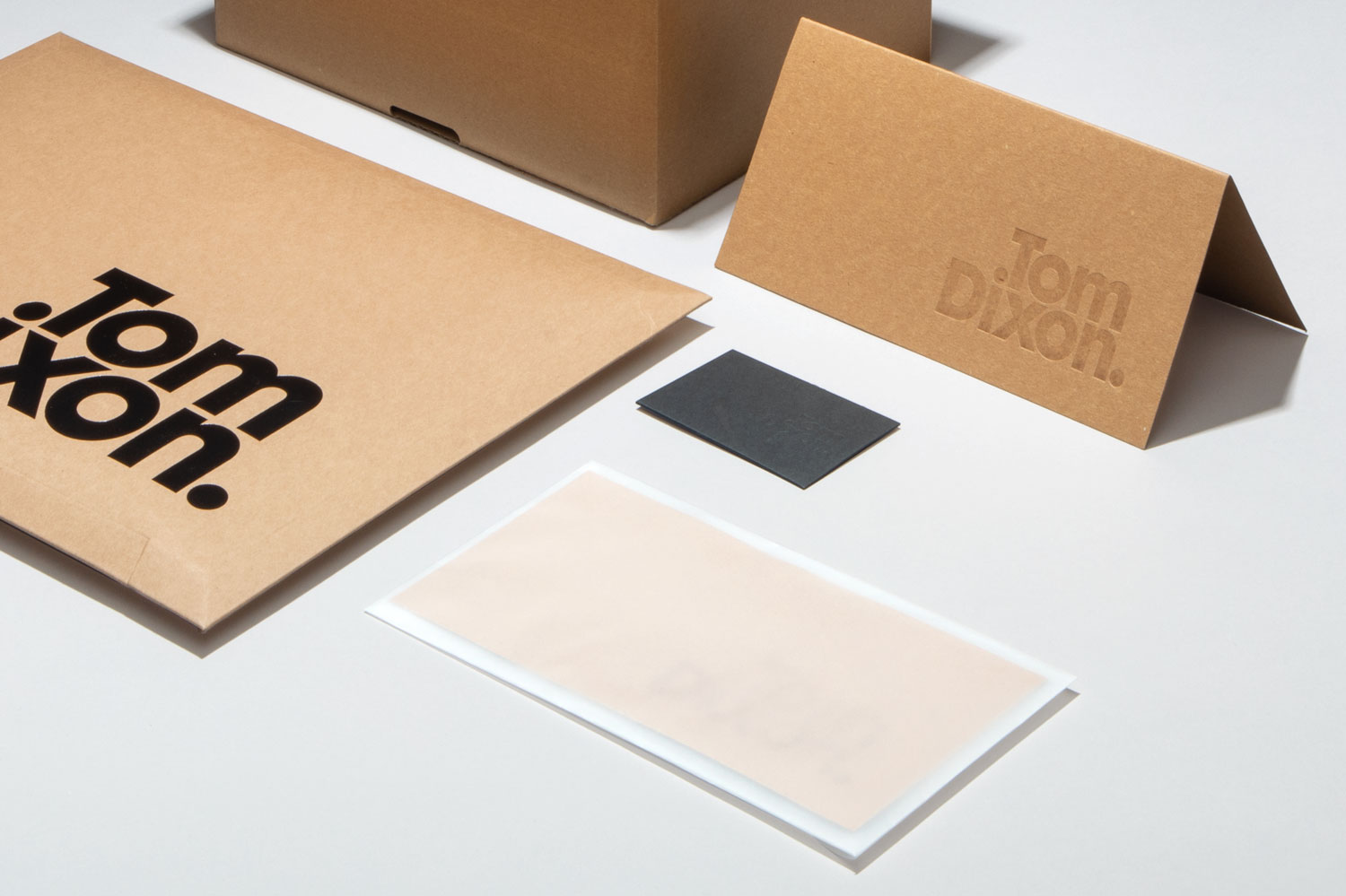 Progress Packaging Tom Dixon Environmentally Friendly Luxury Bespoke Retail Pcw Recyclable Kraft Envelope Accessories Mailer Blind Emboss Ecommerce Pack